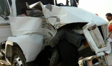 Accidente en la Autopista Códoba - Rosario