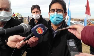 El vicegobernador de la Pcia. de Córdoba Manuel Calvo y el ministro de salud Diego Cardozo supervisaron el control sanitario ubicado en Gral. Roca.